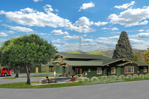 Ojai Fire Station rendering