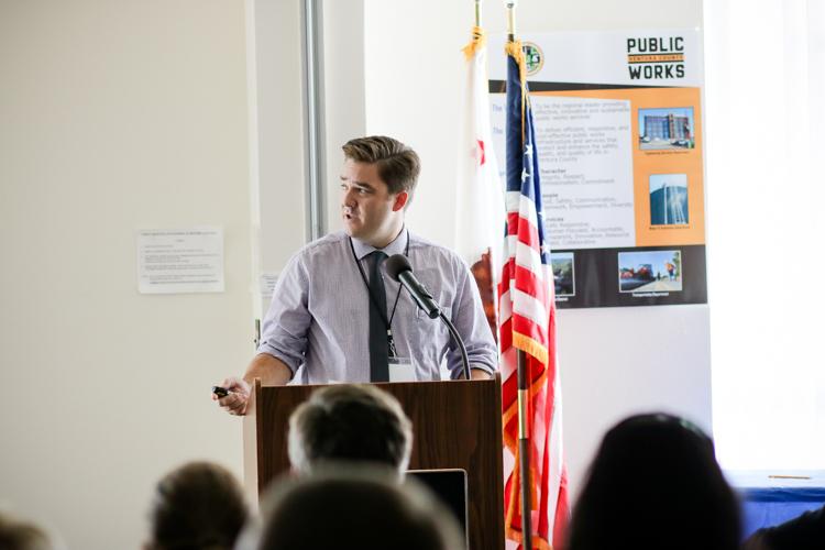 Matthew Maechler speaking at the SOA 2018.