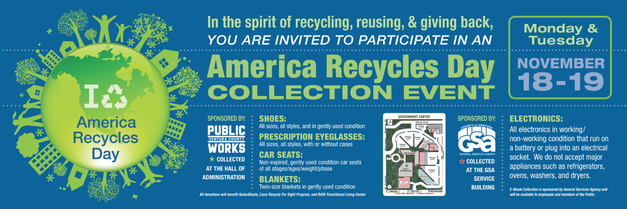 America Recycles Day Banner 10.29.19