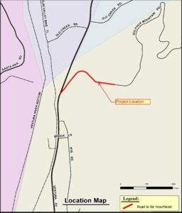 Map of Sulphur Mountain West